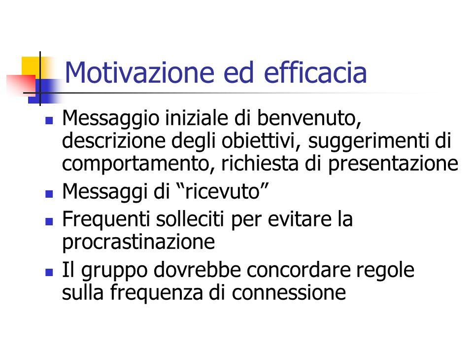 Motivazione ed efficacia