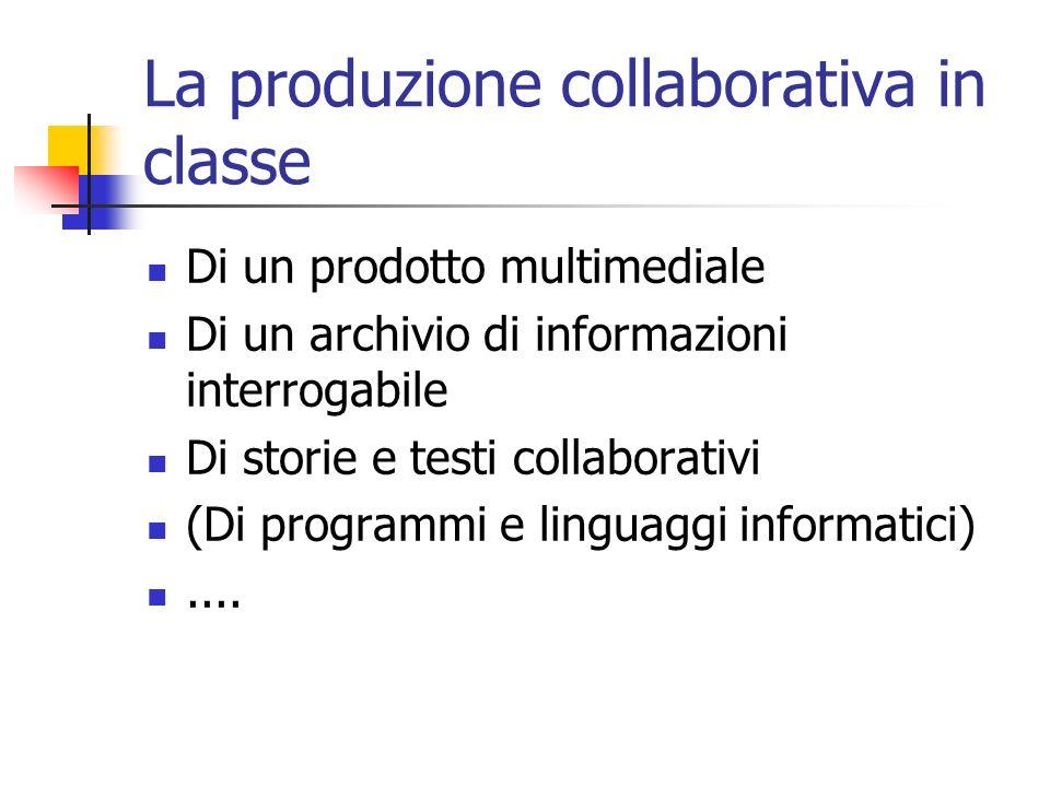 La produzione collaborativa in classe