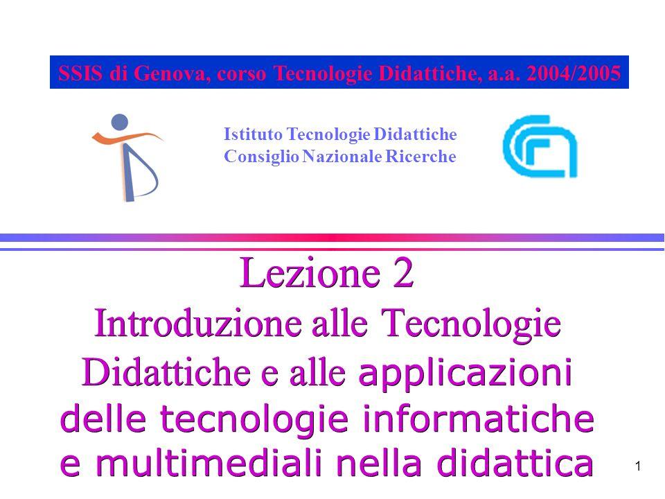 SSIS di Genova, corso Tecnologie Didattiche, a.a. 2004/2005