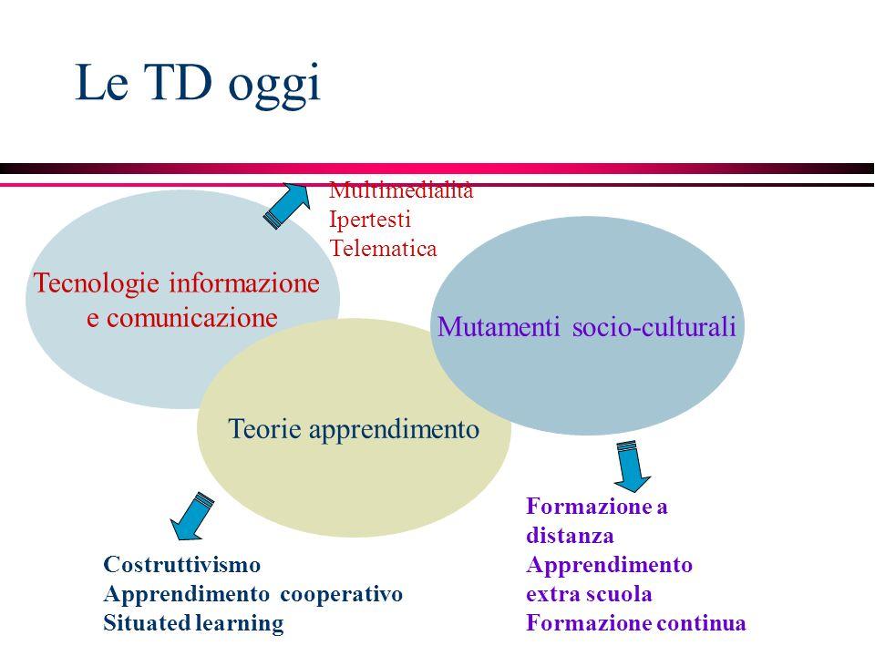 Le TD oggi Tecnologie informazione e comunicazione