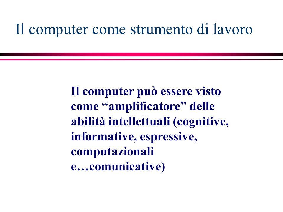 Il computer come strumento di lavoro