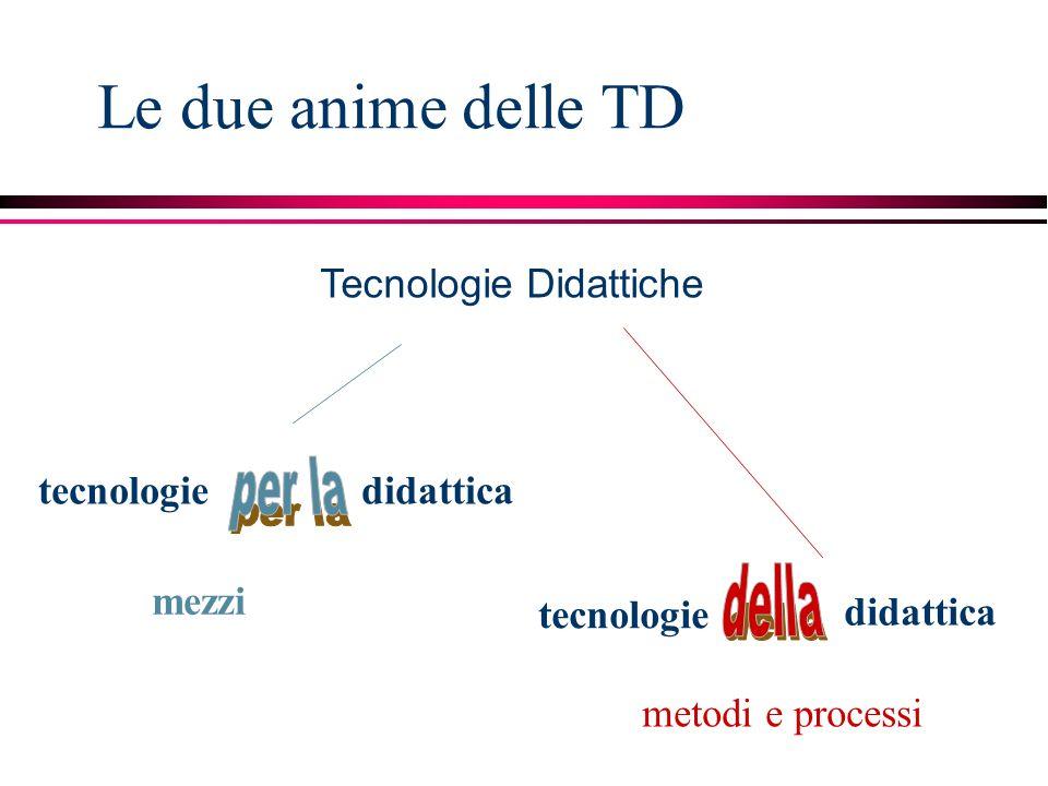 Le due anime delle TD per la della Tecnologie Didattiche tecnologie