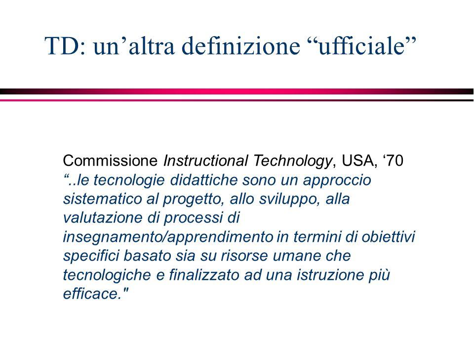 TD: un'altra definizione ufficiale