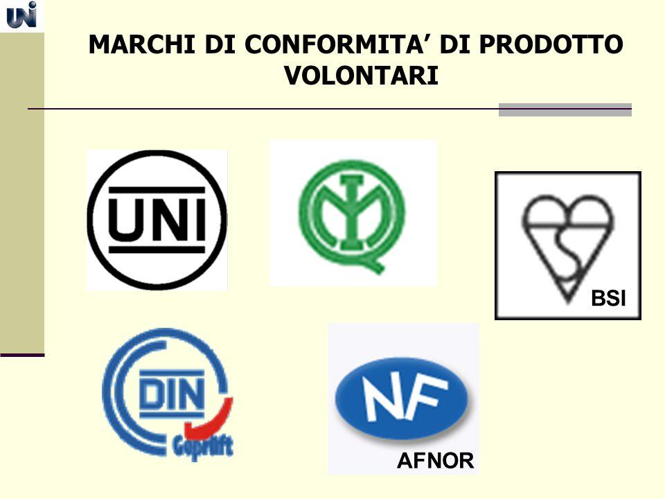 MARCHI DI CONFORMITA' DI PRODOTTO VOLONTARI