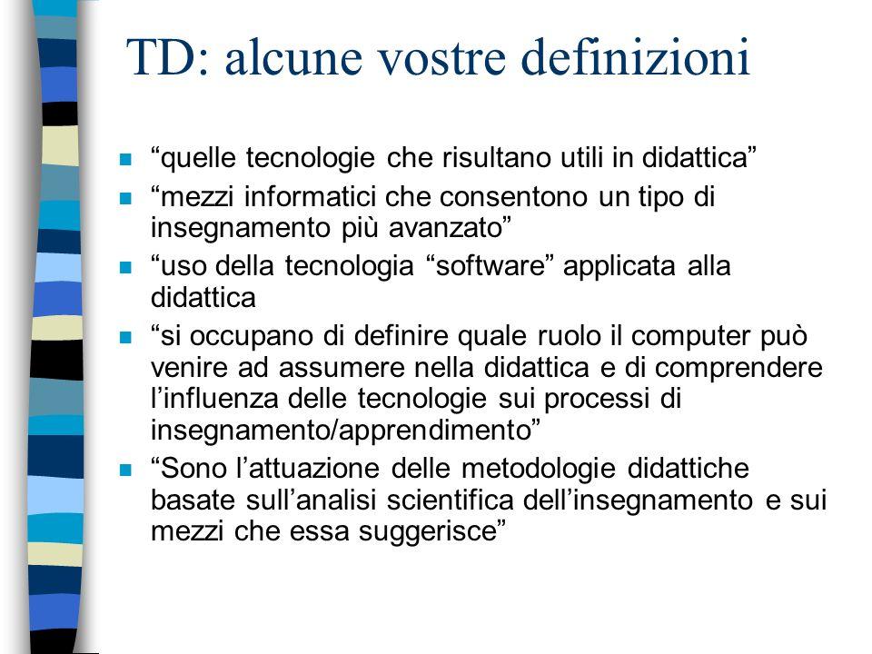 TD: alcune vostre definizioni
