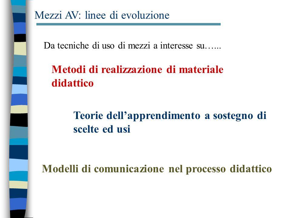 Mezzi AV: linee di evoluzione
