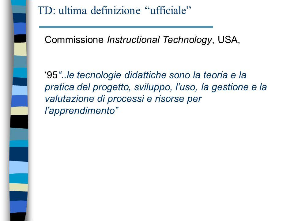 TD: ultima definizione ufficiale