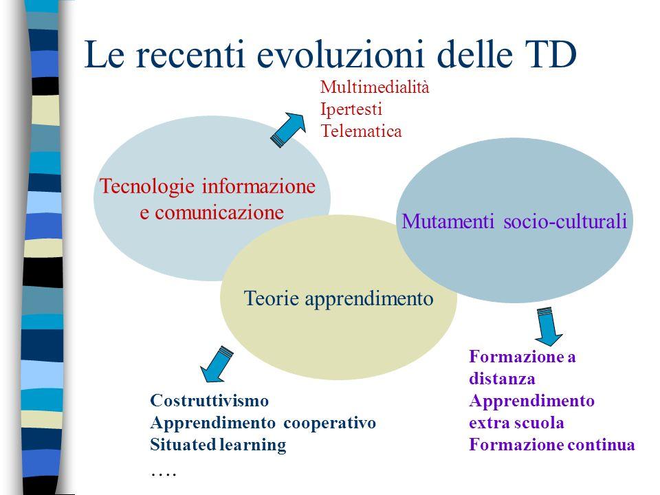 Le recenti evoluzioni delle TD