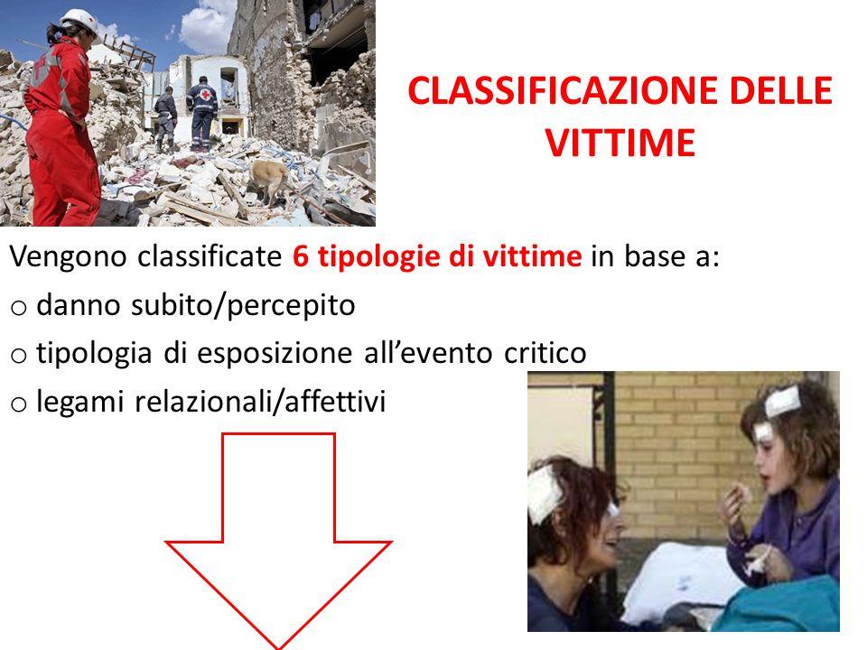 CLASSIFICAZIONE DELLE VITTIME