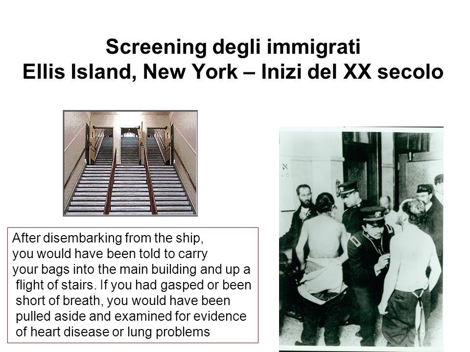Screening degli immigrati Ellis Island, New York – Inizi del XX secolo