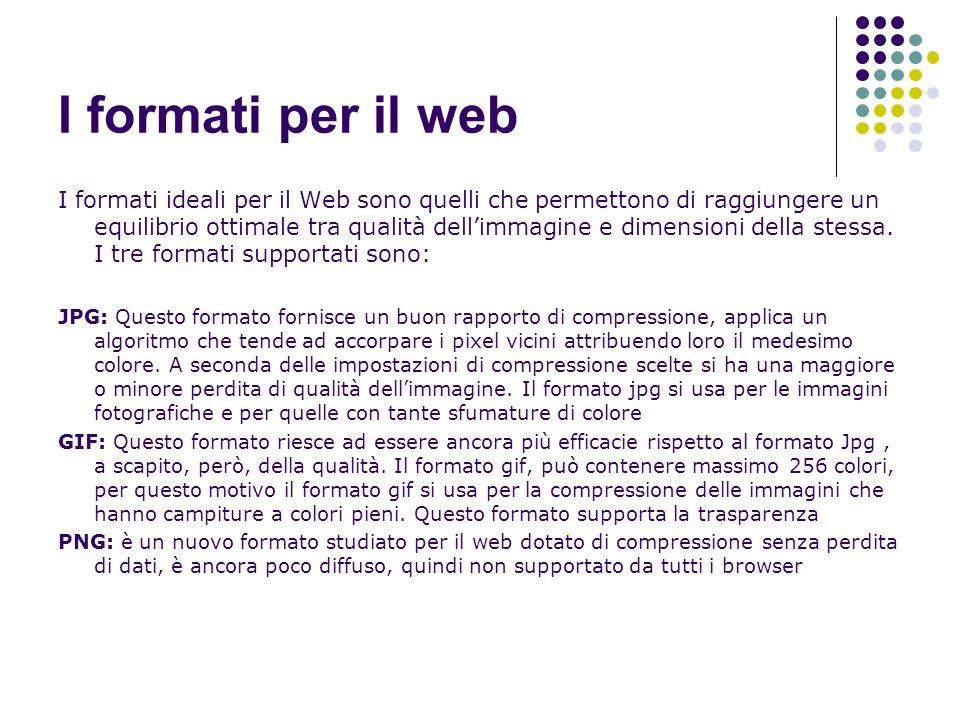 I formati per il web