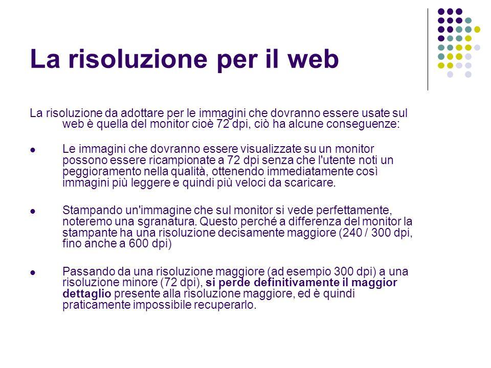 La risoluzione per il web