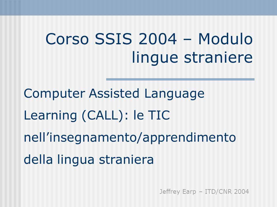 Corso SSIS 2004 – Modulo lingue straniere