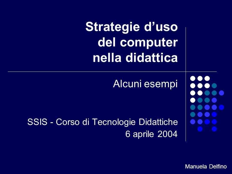 Strategie d'uso del computer nella didattica
