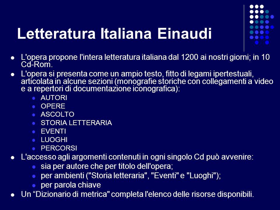 Letteratura Italiana Einaudi