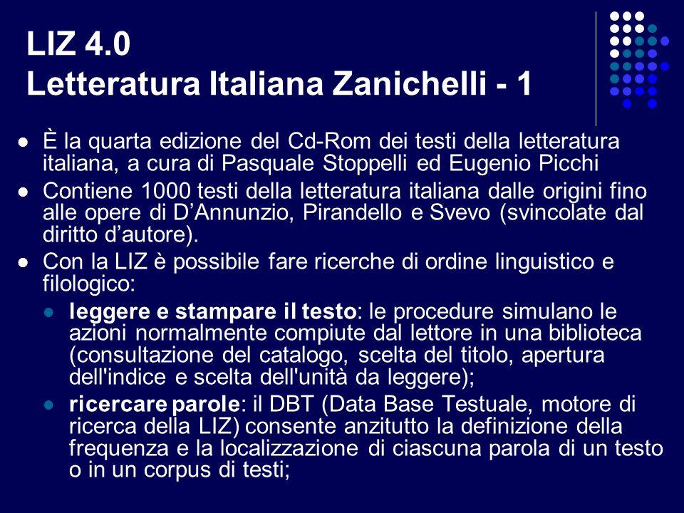LIZ 4.0 Letteratura Italiana Zanichelli - 1