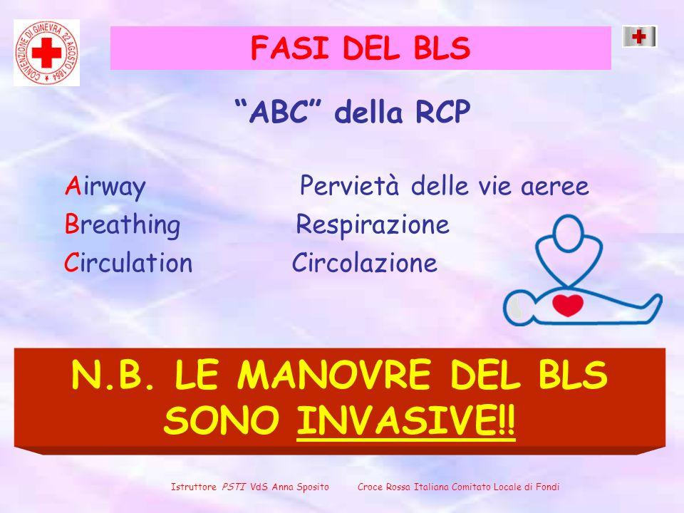 N.B. LE MANOVRE DEL BLS SONO INVASIVE!!