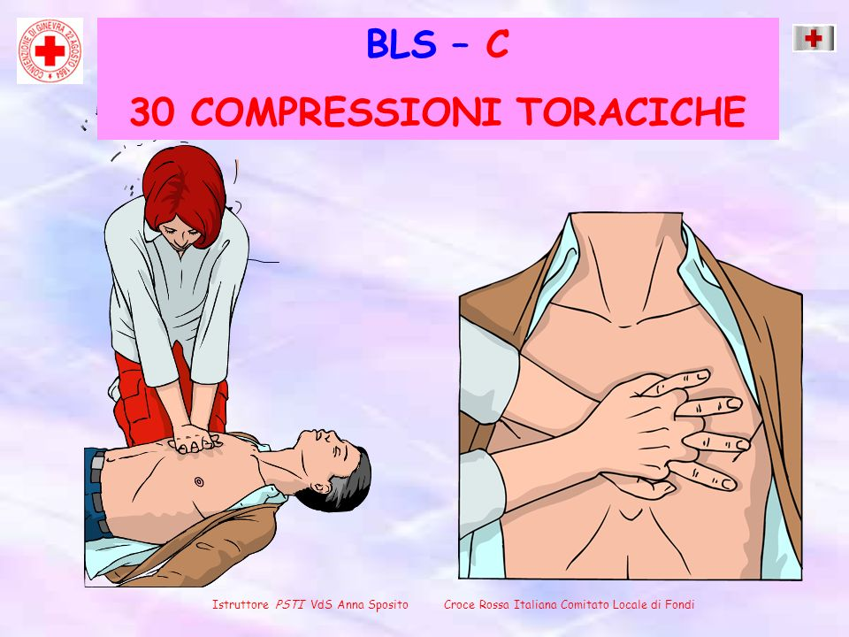 30 COMPRESSIONI TORACICHE