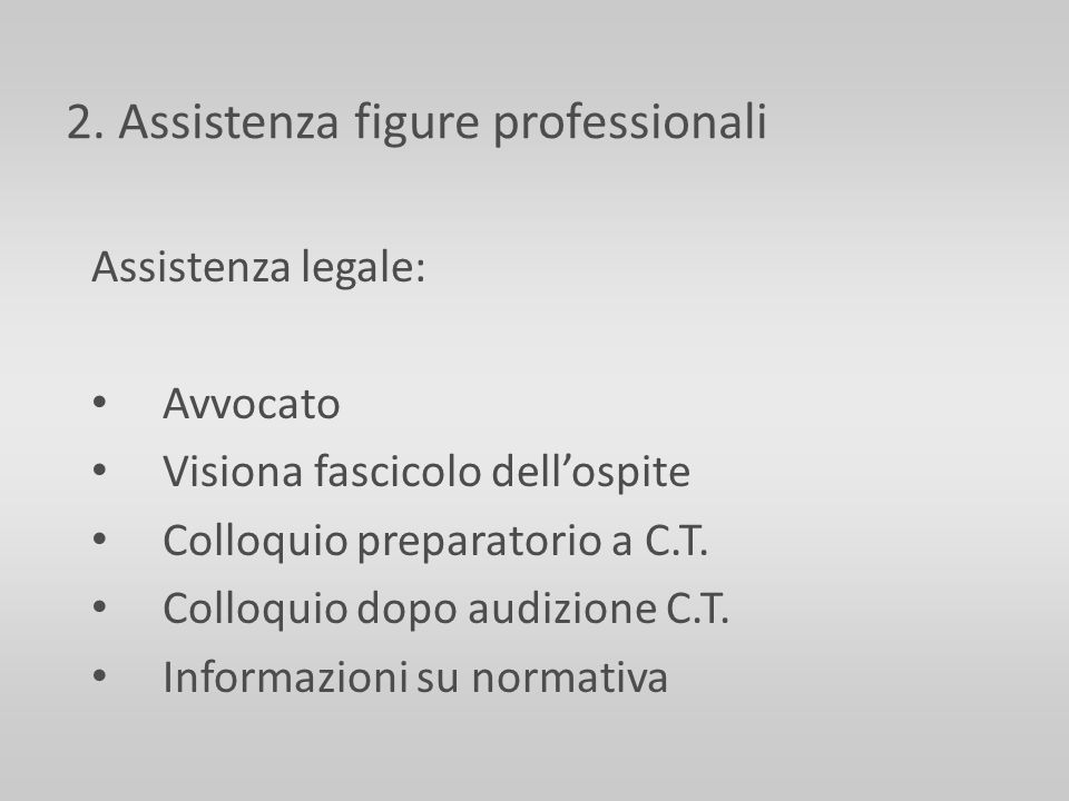 2. Assistenza figure professionali