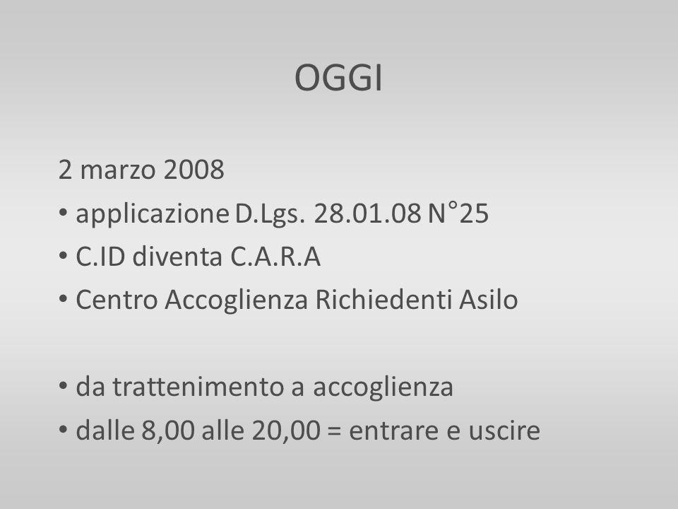 OGGI 2 marzo 2008 applicazione D.Lgs. 28.01.08 N°25