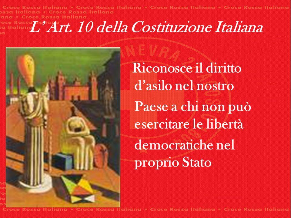 L' Art. 10 della Costituzione Italiana