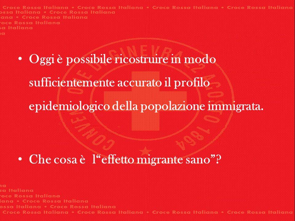 Oggi è possibile ricostruire in modo sufficientemente accurato il profilo epidemiologico della popolazione immigrata.