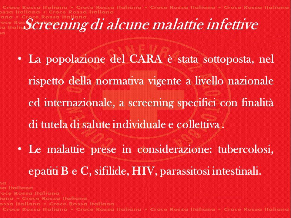 Screening di alcune malattie infettive