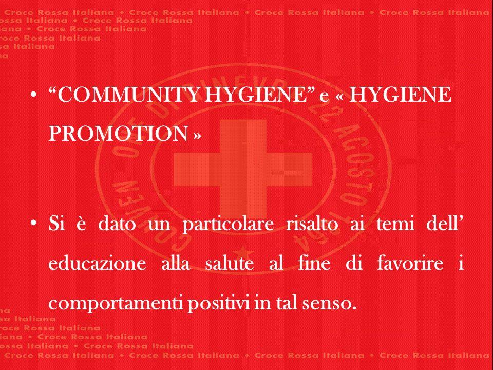 COMMUNITY HYGIENE e « HYGIENE PROMOTION »