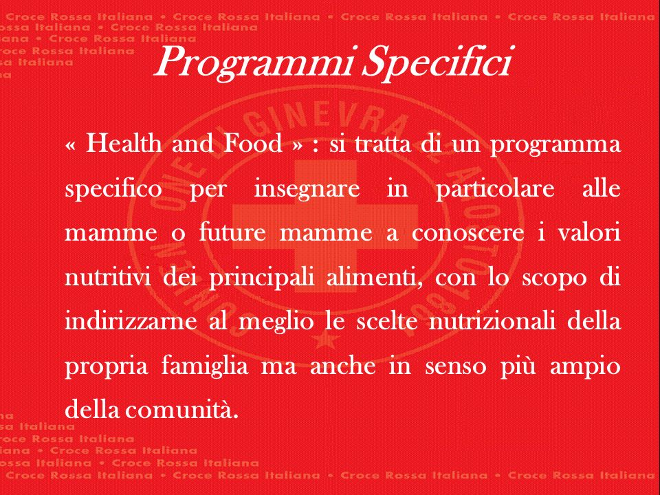 Programmi Specifici