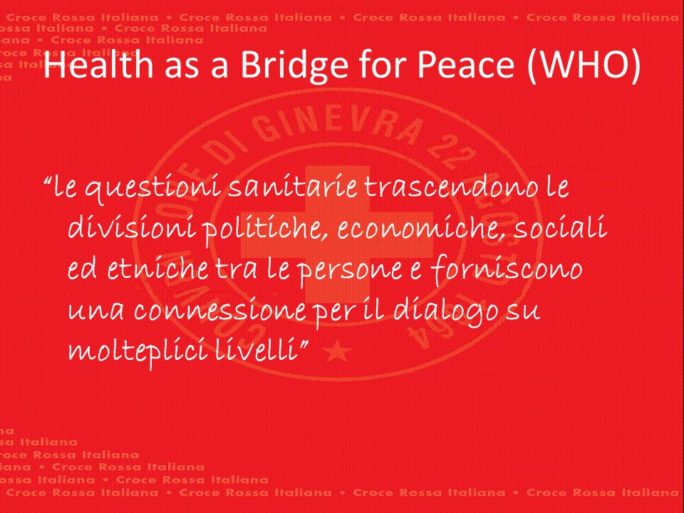 Health as a Bridge for Peace (WHO)