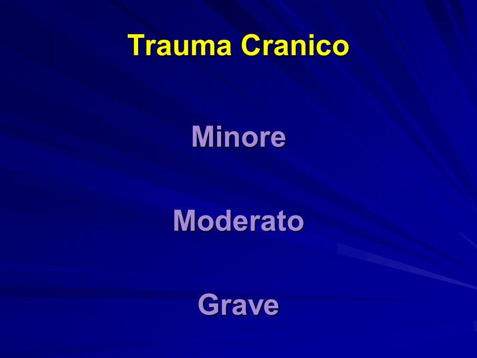 Trauma Cranico Minore Moderato Grave