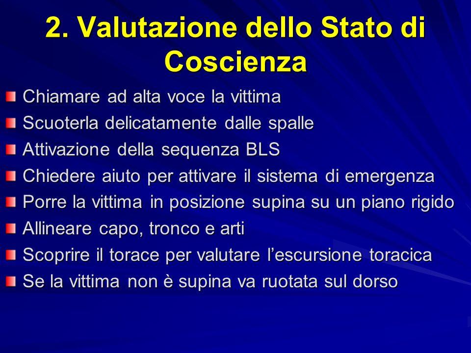 2. Valutazione dello Stato di Coscienza