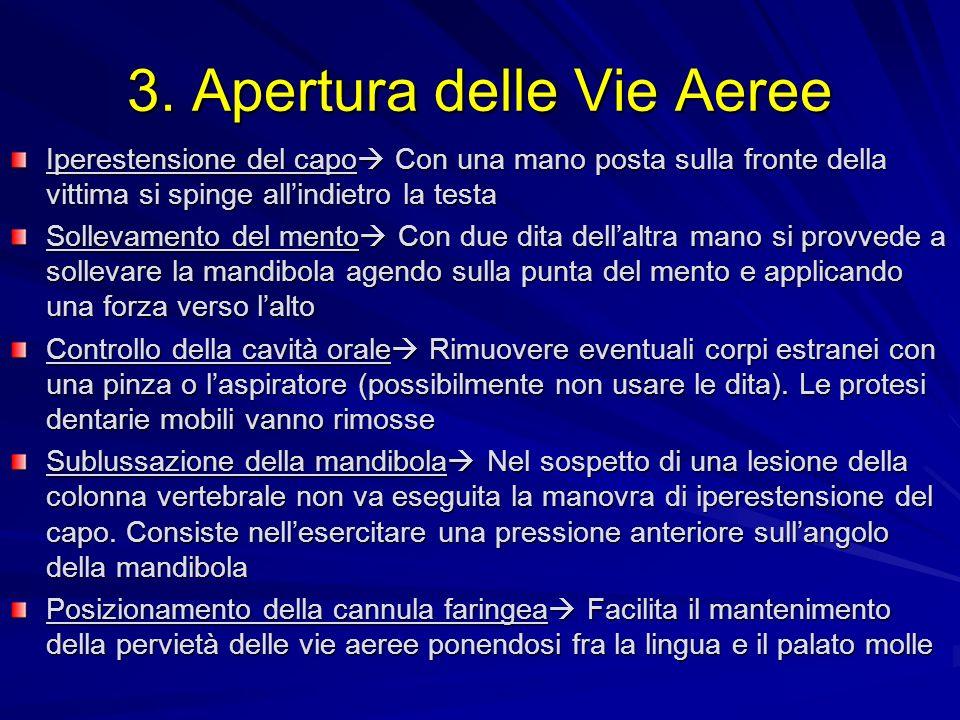 3. Apertura delle Vie Aeree