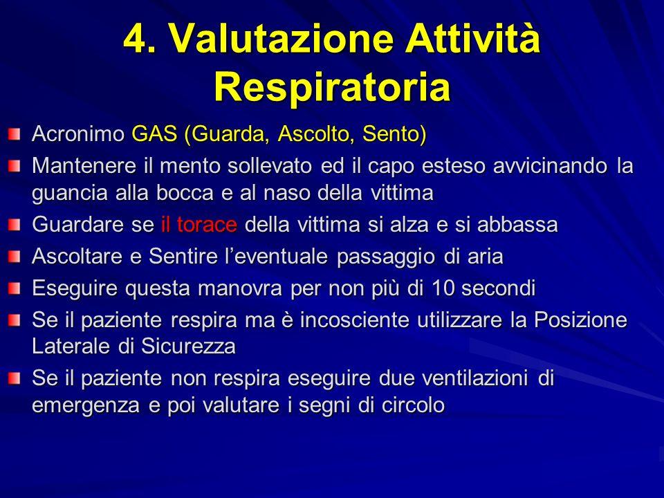 4. Valutazione Attività Respiratoria