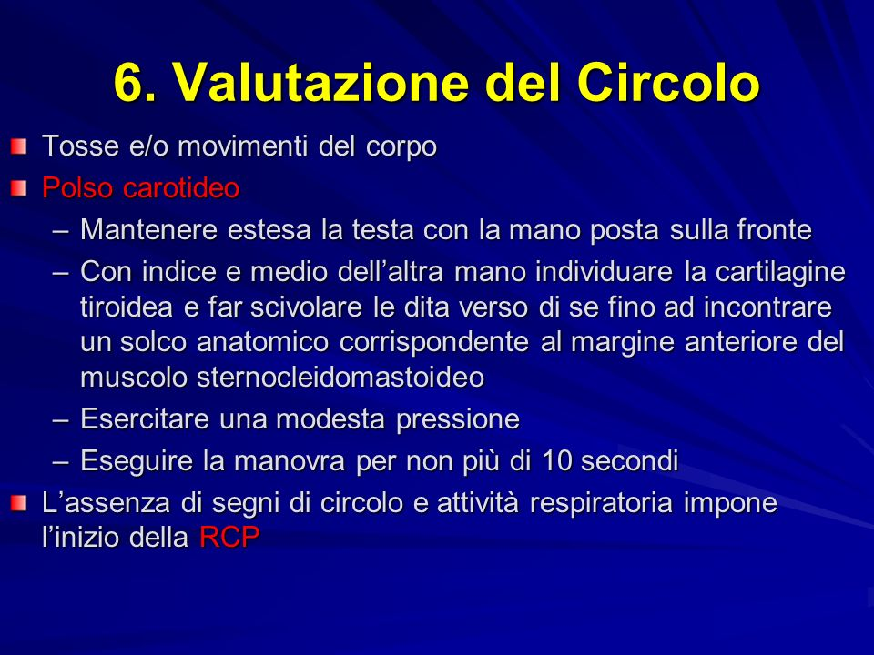 6. Valutazione del Circolo