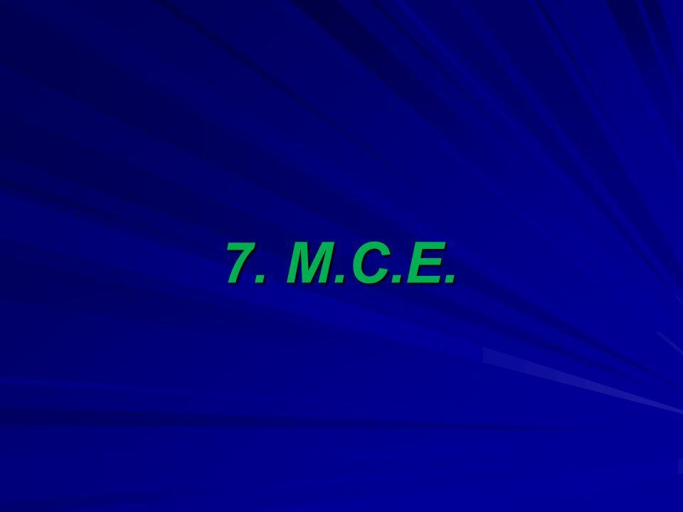 7. M.C.E.
