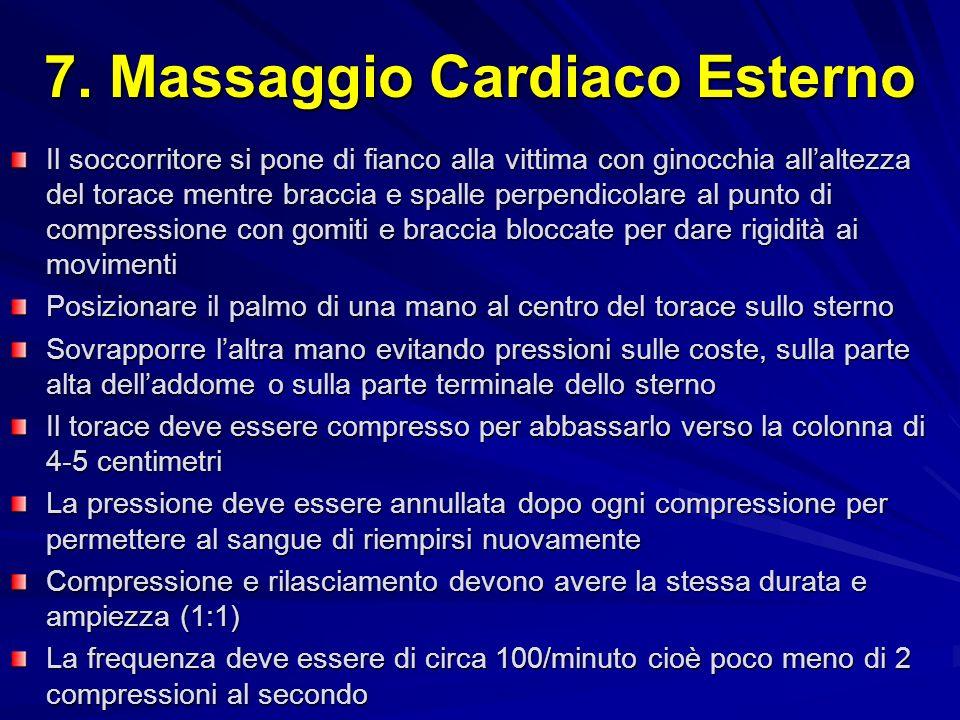 7. Massaggio Cardiaco Esterno