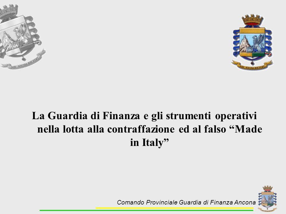 La Guardia di Finanza e gli strumenti operativi nella lotta alla contraffazione ed al falso Made in Italy