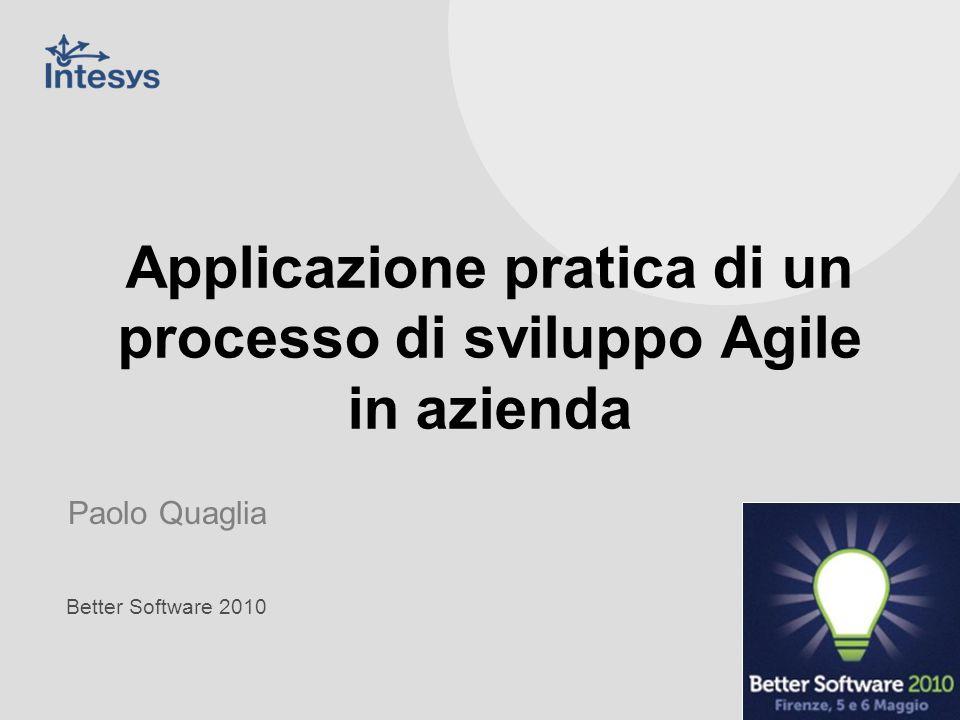 Applicazione pratica di un processo di sviluppo Agile in azienda
