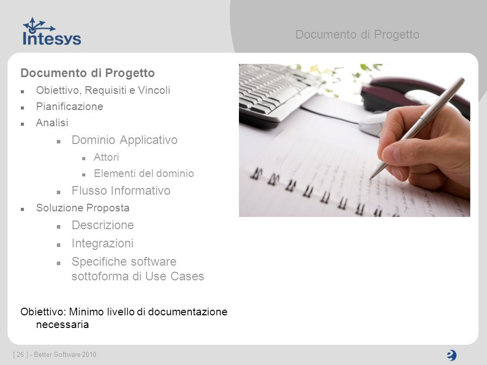 Specifiche software sottoforma di Use Cases