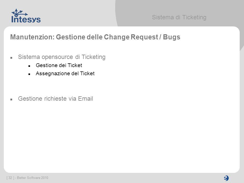 Manutenzion: Gestione delle Change Request / Bugs