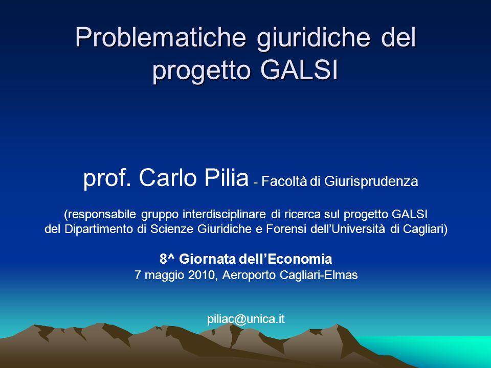 Problematiche giuridiche del progetto GALSI
