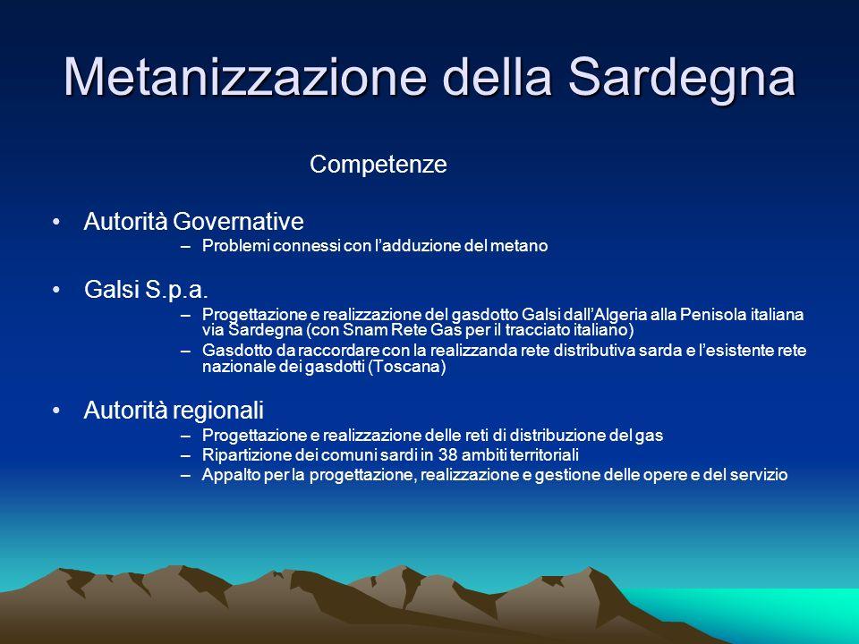 Metanizzazione della Sardegna