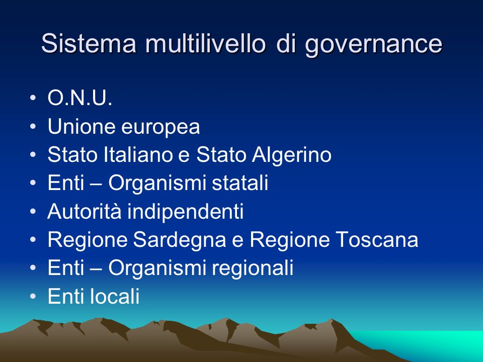 Sistema multilivello di governance
