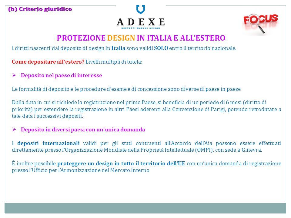 PROTEZIONE DESIGN IN ITALIA E ALL'ESTERO
