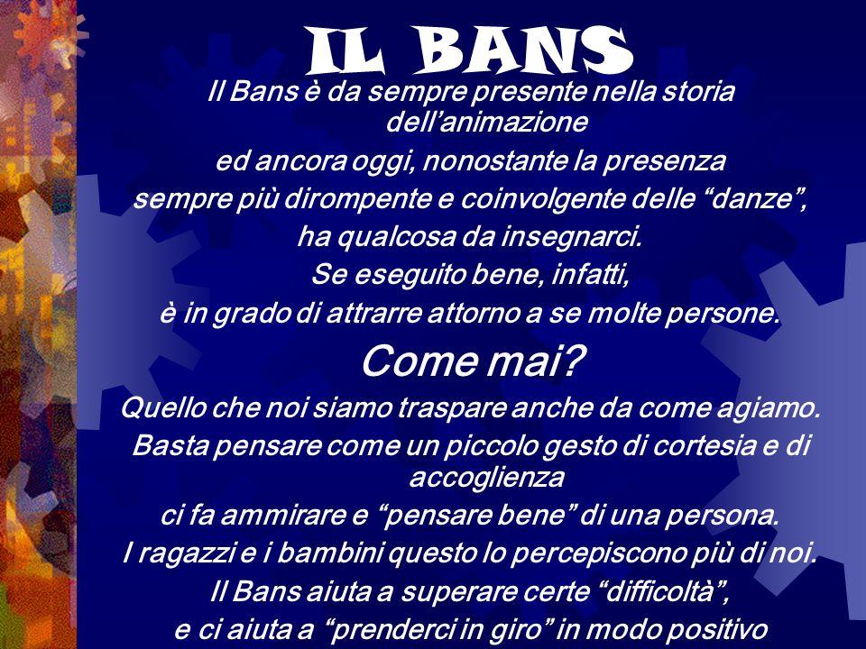 IL BANS Il Bans è da sempre presente nella storia dell'animazione. ed ancora oggi, nonostante la presenza.