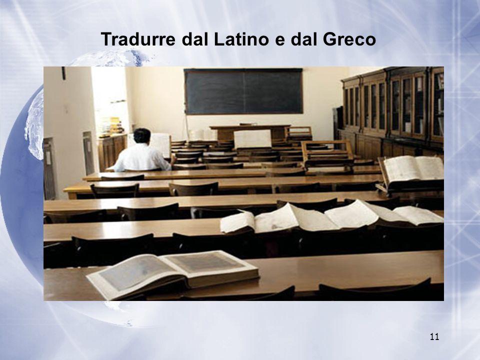Tradurre dal Latino e dal Greco