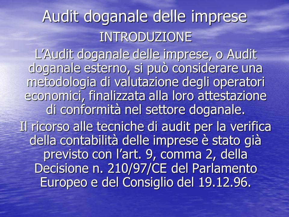 Audit doganale delle imprese