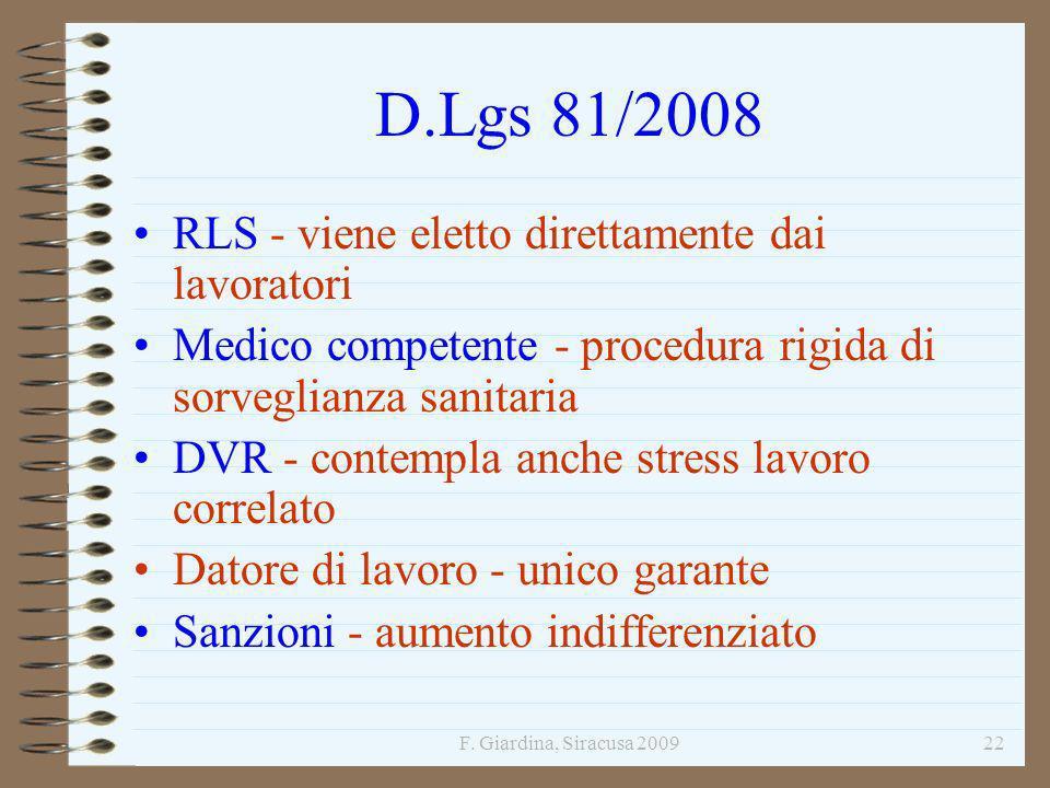 D.Lgs 81/2008 RLS - viene eletto direttamente dai lavoratori