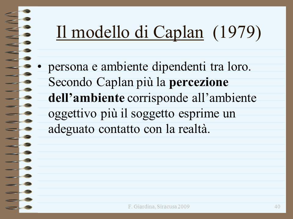Il modello di Caplan (1979)